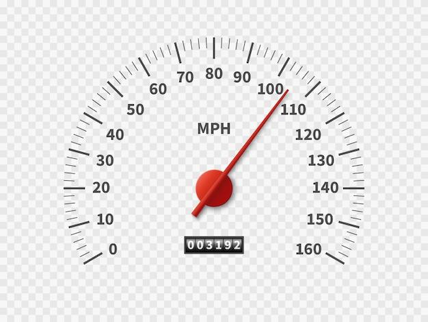 Samochodowy Drogomierz Prędkości Licznika Tarczy Metru Rpm Silnik Mil Mierzy Skala Białego Silnika Metru Pojęcia Premium Wektorów
