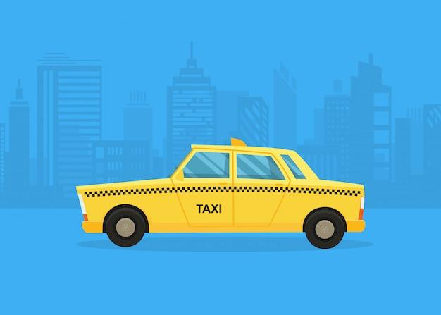 Samochody na panoramę miasta Premium Wektorów