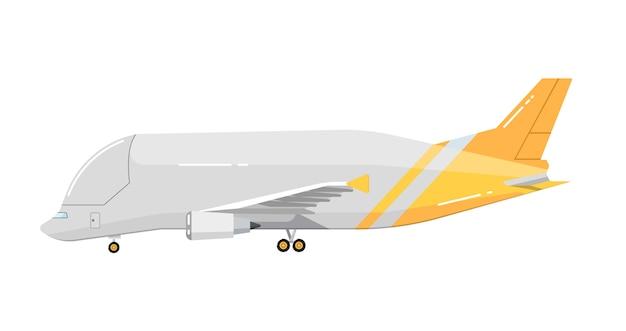 Samolot na białym tle Premium Wektorów