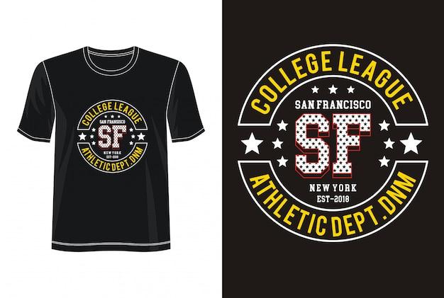San Francisco Typografia Do Koszulki Z Nadrukiem Premium Wektorów