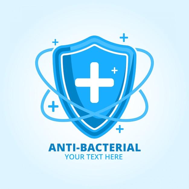 Sanitazer Antybakteryjny Do Rąk Produkt Marki Logo Premium Wektorów