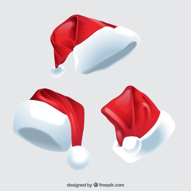 Santa Claus Kapelusz Opakowanie Darmowych Wektorów