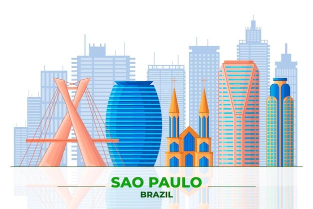Sao Paulo I Różne Budynki Darmowych Wektorów