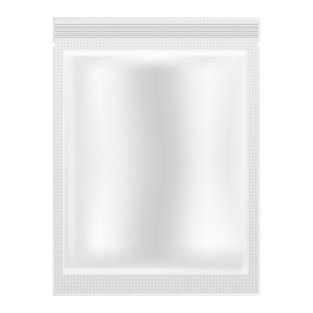 Saszetka kosmetyczna opakowanie foliowe z maską na twarz. 3d etui Premium Wektorów