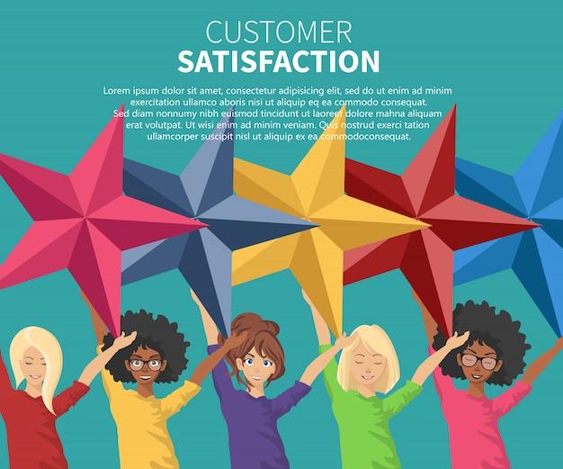 Satysfakcja konsumenta Premium Wektorów