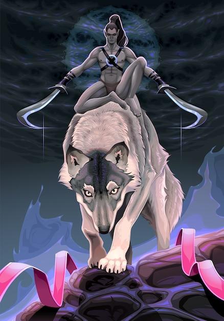 Scena Fantasy Przedstawiająca Wybór Między Dwiema ścieżkami Darmowych Wektorów