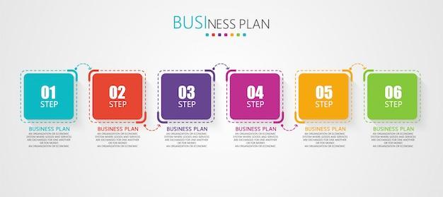 Schematy Edukacyjne Ilustracji Planowania Biznesowego Premium Wektorów