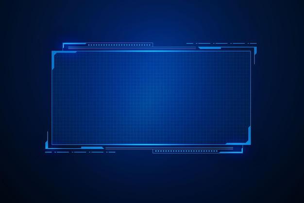 Sci Fi Futurystyczny Interfejs Użytkownika, Konstrukcja Ramy Szablonu Hud, Technologia Abstrakcyjne Tło Premium Wektorów