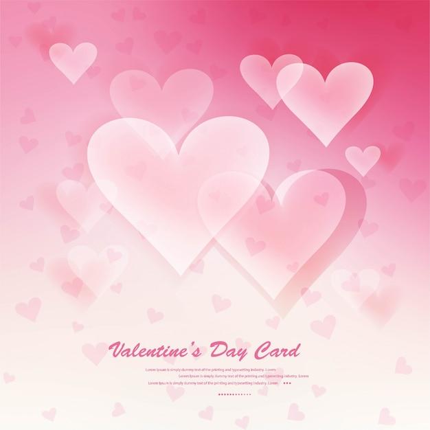 Serca Na Abstrakcyjnym Tle Miłości Bądź Moją Walentynką Darmowych Wektorów
