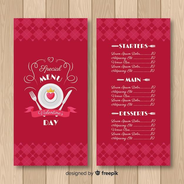 Serce na szablon menu walentynki valentine Darmowych Wektorów