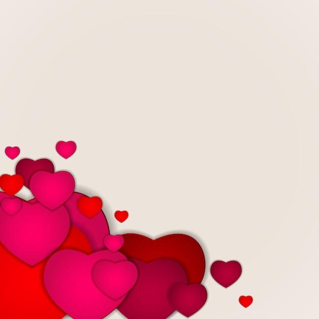 Serce różowe tło Premium Wektorów