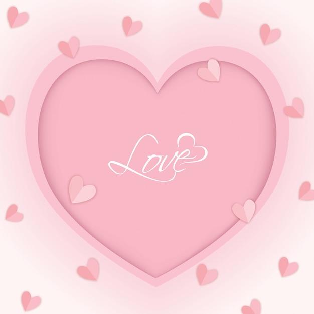 Serce Różowe Premium Wektorów