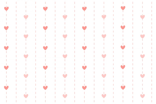 Serce z linią kreskową tła. Premium Wektorów