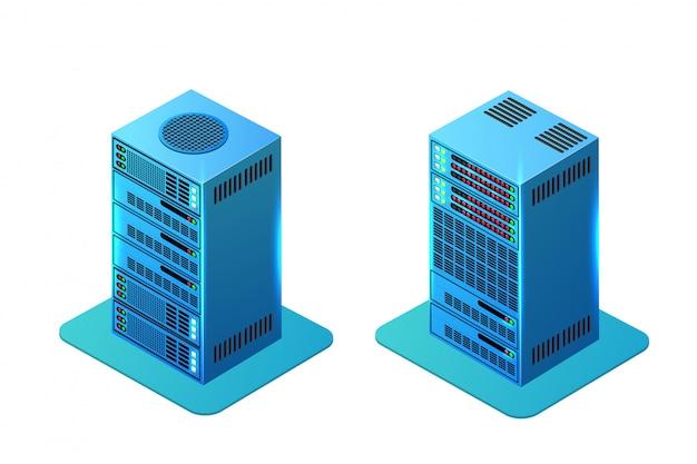 Serwer Zasilania Komputera Premium Wektorów