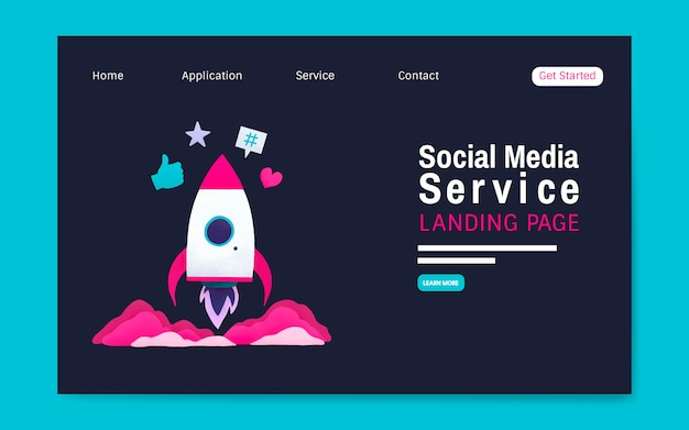 Serwis społecznościowy układ strony docelowej wektor Darmowych Wektorów
