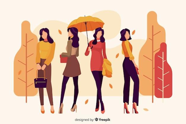 Sezonowa odzież dla jesieni ilustraci Darmowych Wektorów
