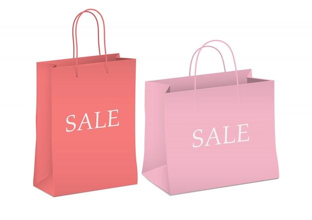 Sezonowa wyprzedaż, torby na zakupy Premium Wektorów