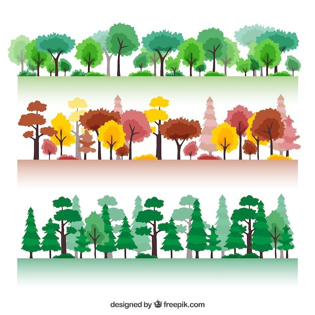 Sezonowy las Darmowych Wektorów