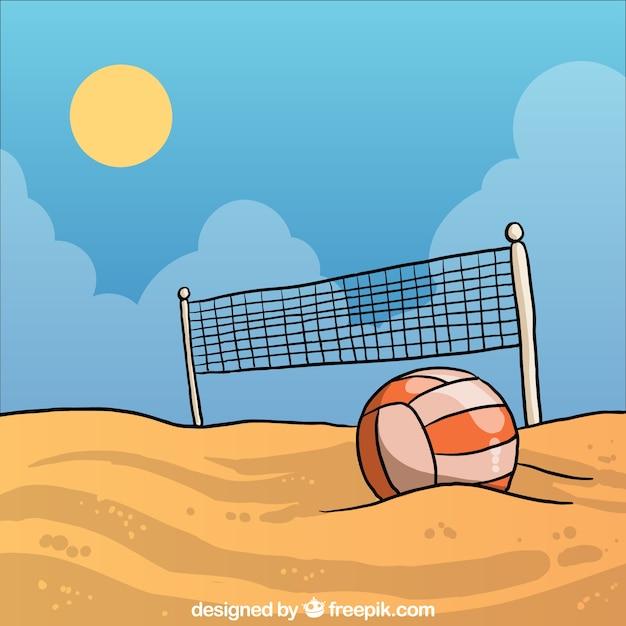 Siatkówka plażowa Darmowych Wektorów