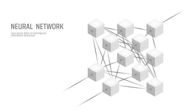 Sieć neuronowa, sieć neuron, głębokie uczenie się, technologia poznawcza Premium Wektorów