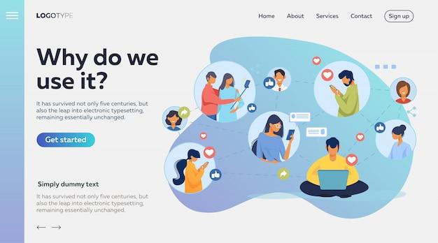 Sieć Społecznościowa Darmowych Wektorów