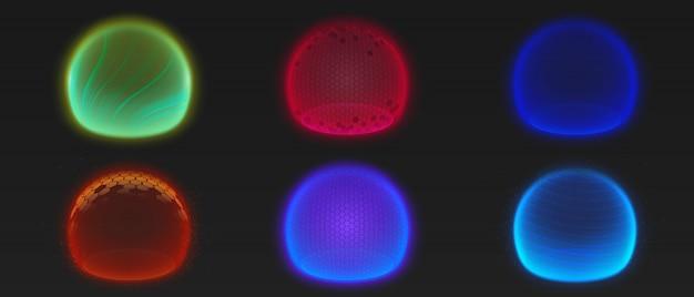 Siła Pęcherzyków Tarczy, Różne Kule świecące Energii Darmowych Wektorów