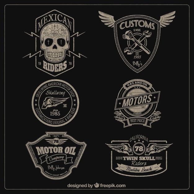 Silniki odznaki Darmowych Wektorów