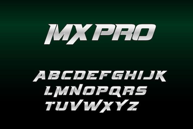Silver Bold Font Mxpro Premium Wektorów
