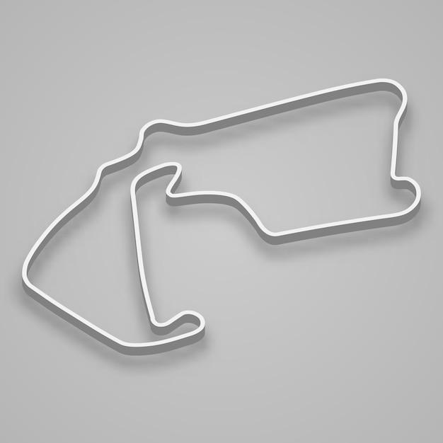 Silverstone Circuit Do Sportów Motorowych I Autosportu. Tor Wyścigowy Grand Prix Wielkiej Brytanii. Premium Wektorów