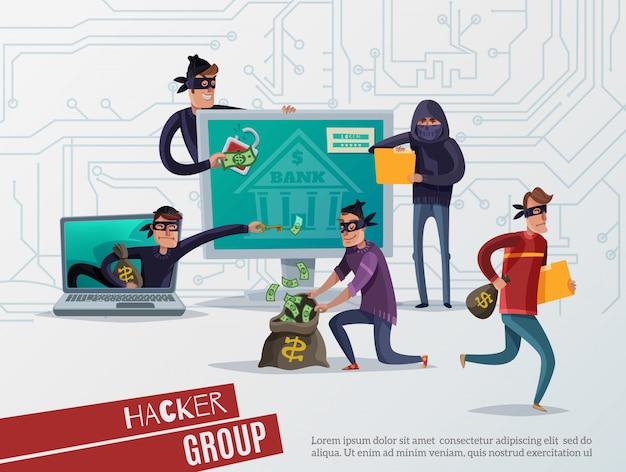 Skład Hakera Internetowego Darmowych Wektorów