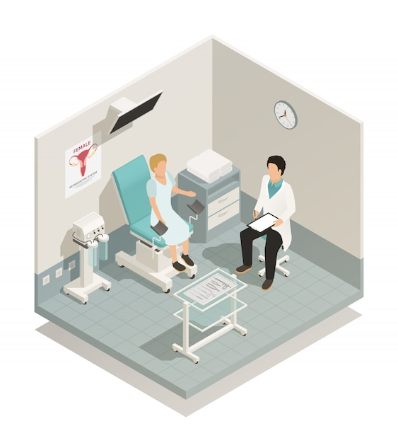 Skład izometryczny ginekologii Darmowych Wektorów