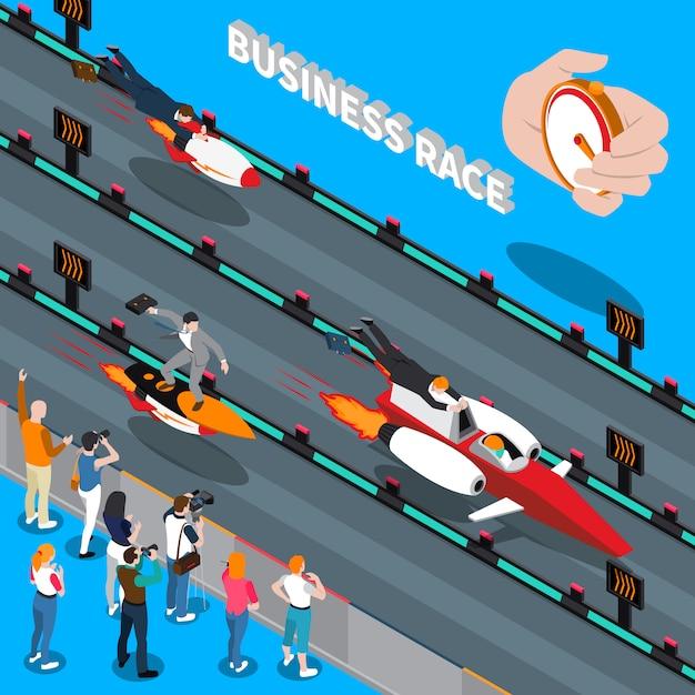Skład izometryczny rasy biznesowej Darmowych Wektorów