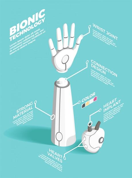 Skład Izometryczny Technologii Bionics Darmowych Wektorów