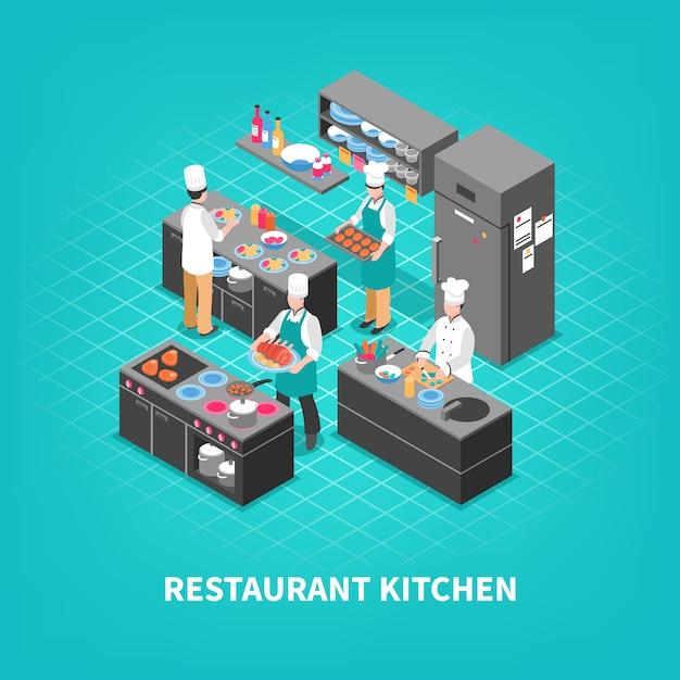 Skład kuchni w sądzie gastronomicznym Darmowych Wektorów