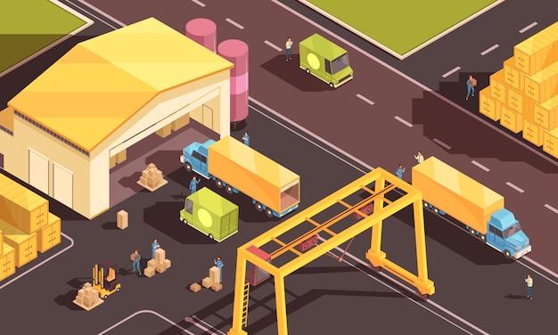 Skład logistyki miejskiej Darmowych Wektorów