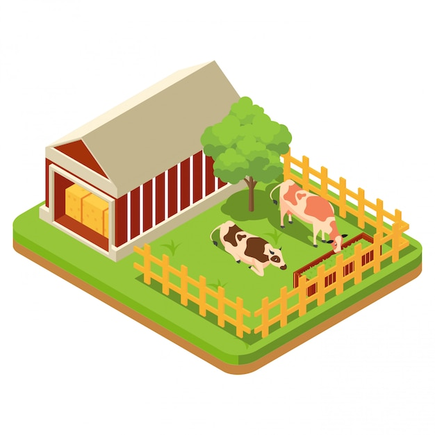 Skład rolnictwa Premium Wektorów