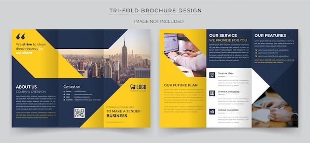 Składana broszura Premium Wektorów