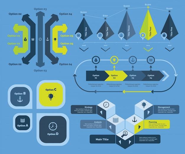 Składniki wykresu biznesowego Darmowych Wektorów