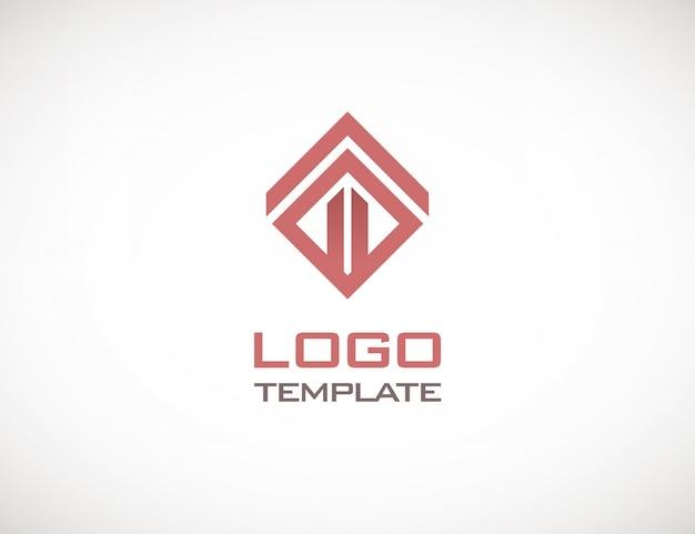 Skonstruuj luksusowy koncepcja logo streszczenie szablon Premium Wektorów