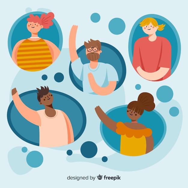 Skontaktuj się z nami ilustracja koncepcja strony docelowej Darmowych Wektorów
