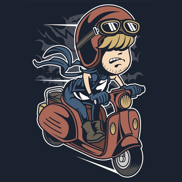 Skuter Rider Premium Wektorów