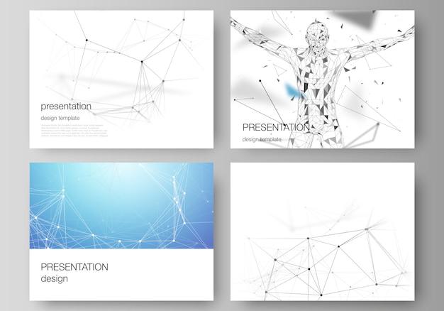 Slajdy prezentacji Premium Wektorów