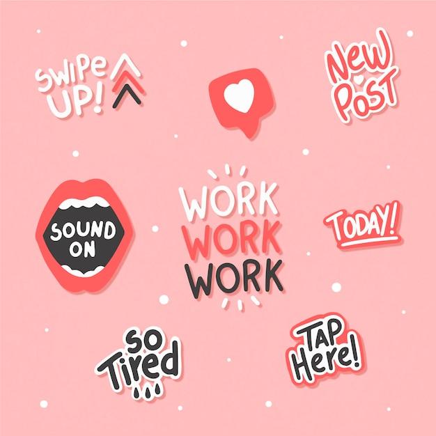 Slang W Mediach Społecznościowych W Kolorze Różowym Darmowych Wektorów