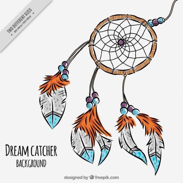 Śliczne Dreamcatcher Darmowych Wektorów
