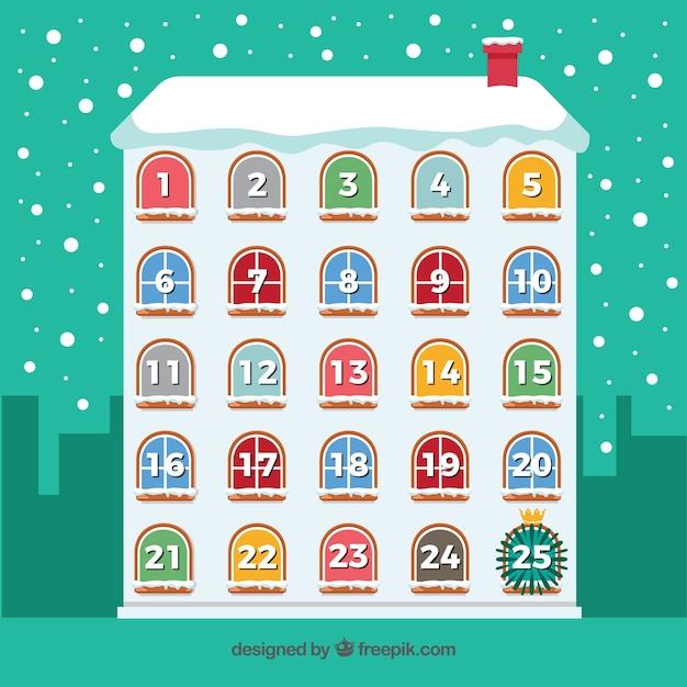 Śliczne kalendarze adwentowe Darmowych Wektorów