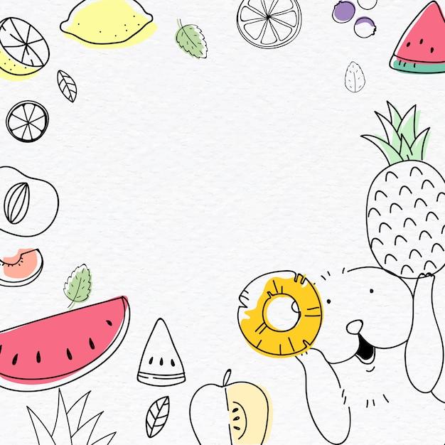 Śliczne tło owocowe Darmowych Wektorów