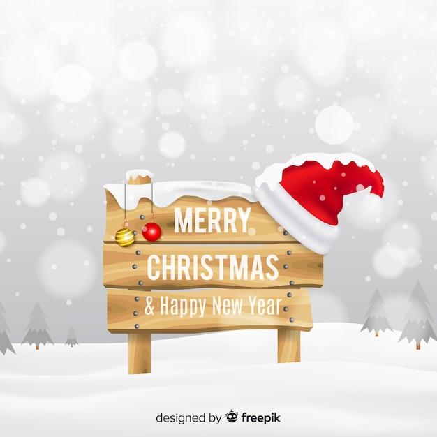 Śliczny Bożego Narodzenia Tło Z Realistycznym Projektem Darmowych Wektorów