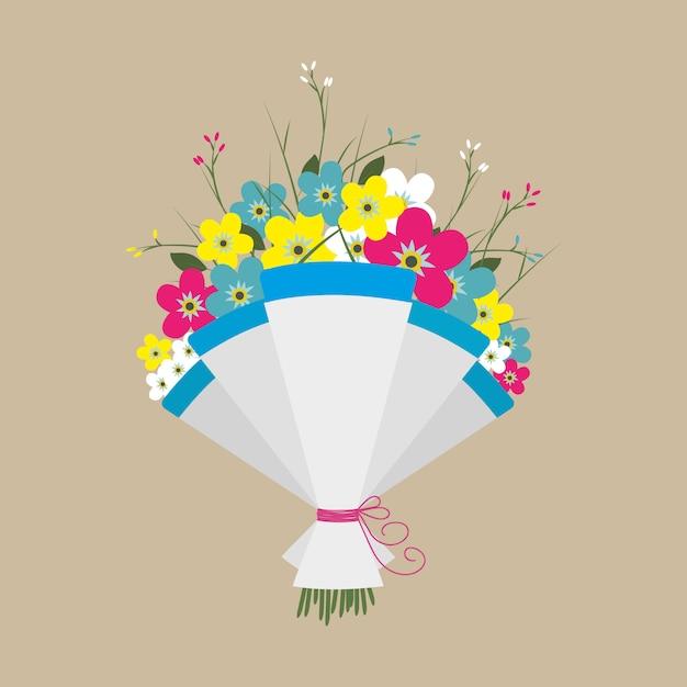 Śliczny Bukiet Kwiatów Premium Wektorów