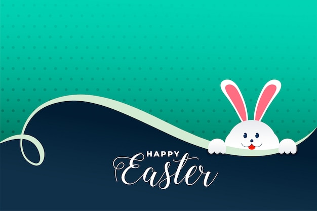 Śliczny Królik Podpatruje Out Easter Dnia Tło Darmowych Wektorów