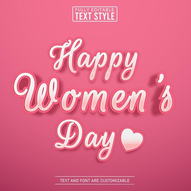 Śliczny Skrypt Kobiecy Różowy Efekt Tekstowy Premium Wektorów